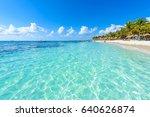 akumal beach   paradise bay ... | Shutterstock . vector #640626874