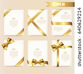 set gift card vector... | Shutterstock .eps vector #640629214