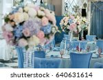 wedding birthday reception... | Shutterstock . vector #640631614