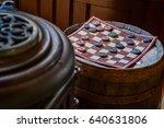 Antique Vintage Checker Board...