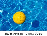 yellow ball in the pool. summer ...   Shutterstock . vector #640639318