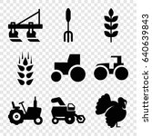 agricultural icons set. set of... | Shutterstock .eps vector #640639843