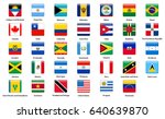 flags of all countries of the... | Shutterstock .eps vector #640639870