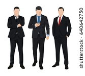 group of three business men ... | Shutterstock .eps vector #640642750