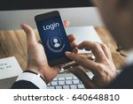 chat member login register... | Shutterstock . vector #640648810