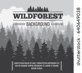 wild coniferous pine forest... | Shutterstock . vector #640649038
