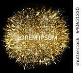 gold glitter powder explosion....   Shutterstock .eps vector #640651330