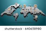 highly detailed world map... | Shutterstock .eps vector #640658980