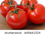 four  tomato  close up on... | Shutterstock . vector #640661524