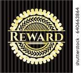 reward gold emblem | Shutterstock .eps vector #640663864