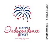 happy 4th of july  ... | Shutterstock .eps vector #640666600