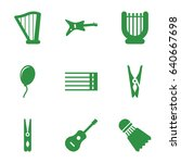 Set Of 9 String Filled Icons...