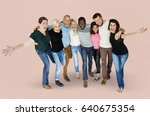 diversity men and women group... | Shutterstock . vector #640675354