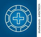 casino chip icon | Shutterstock .eps vector #640678324