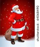santa claus vector image | Shutterstock .eps vector #64068490