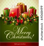 christmas background  vector... | Shutterstock .eps vector #64068499