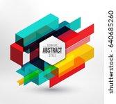 modern abstract design  ... | Shutterstock .eps vector #640685260