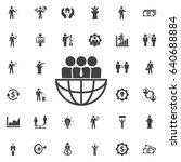international team work icon.... | Shutterstock .eps vector #640688884