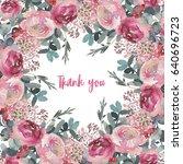 watercolor floral illustration... | Shutterstock . vector #640696723