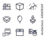 surprise icons set. set of 9... | Shutterstock .eps vector #640698169