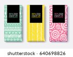 vector set of chocolate bar... | Shutterstock .eps vector #640698826