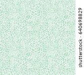 vector gentle pastel mint green ... | Shutterstock .eps vector #640698829