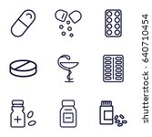 cure icons set. set of 9 cure... | Shutterstock .eps vector #640710454