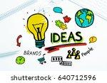 social media and network... | Shutterstock . vector #640712596