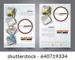 abstract flyer design... | Shutterstock .eps vector #640719334