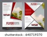 abstract flyer design... | Shutterstock .eps vector #640719370