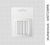vector realistic white alkaline ... | Shutterstock .eps vector #640725898