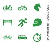 race icons set. set of 9 race... | Shutterstock .eps vector #640727233