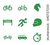 race icons set. set of 9 race... | Shutterstock .eps vector #640727233