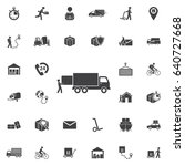 warehouse icons  loading and... | Shutterstock .eps vector #640727668