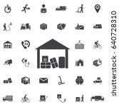 warehouse icon isolated. set of ... | Shutterstock .eps vector #640728310