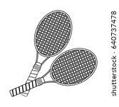 racket or racquet tennis... | Shutterstock .eps vector #640737478
