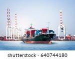 logistics import export... | Shutterstock . vector #640744180