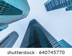perspective and directly below... | Shutterstock . vector #640745770