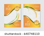 rice food or thai food  banner... | Shutterstock .eps vector #640748110