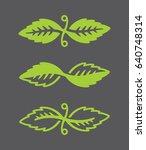 leaf vector logos stylized... | Shutterstock .eps vector #640748314