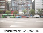 blurred of cars driving on the... | Shutterstock . vector #640759246