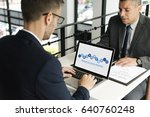 business people  analysis... | Shutterstock . vector #640760248