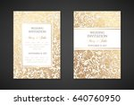 vintage wedding invitation... | Shutterstock .eps vector #640760950