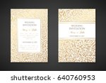 vintage wedding invitation... | Shutterstock .eps vector #640760953