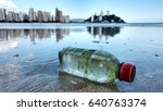 Plastic Bottle Is On The Beach