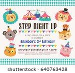 kids birthday party invitation... | Shutterstock .eps vector #640763428