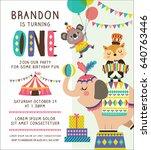 kids birthday party invitation... | Shutterstock .eps vector #640763446