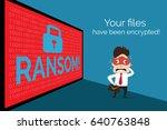 illustration of business data... | Shutterstock .eps vector #640763848