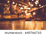 wood table top with reflect on... | Shutterstock . vector #640766710