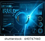 abstract future  concept vector ... | Shutterstock .eps vector #640767460